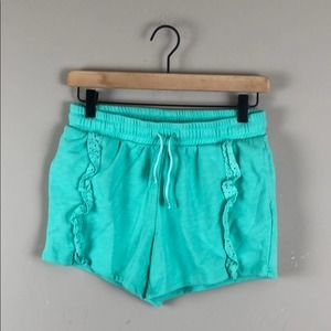 Cat & Jack Teal Ruffled Pull On Shorts (14/16)
